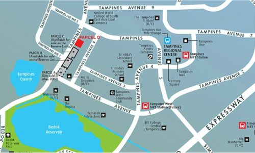Alps Residences @Tampines Ave 10 map