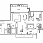 Leedon Residence Floor plan 3 Bedrooms