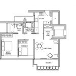Leedon Residence Floor plan 2 Bedrooms
