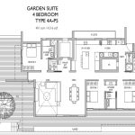 Leedon Residence Floorplan 4 Bedroom Garden Suite
