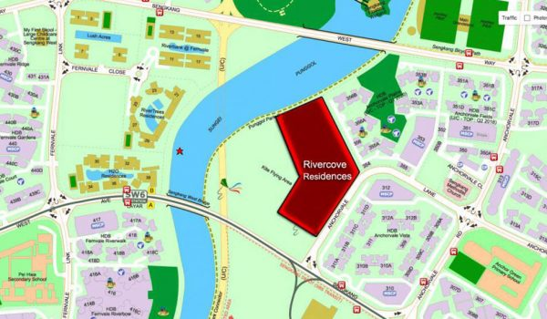 Rivercove Residences EC Location by Hoi Hup Realty